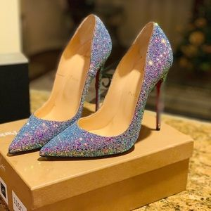 Christian Louboutin So Kate 120 Glitter Dragonfly